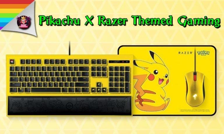 Pikachu X Razer จับมือกันเปิดตัวชุดแป้นพิมพ์และเมาส์ Themed Gaming