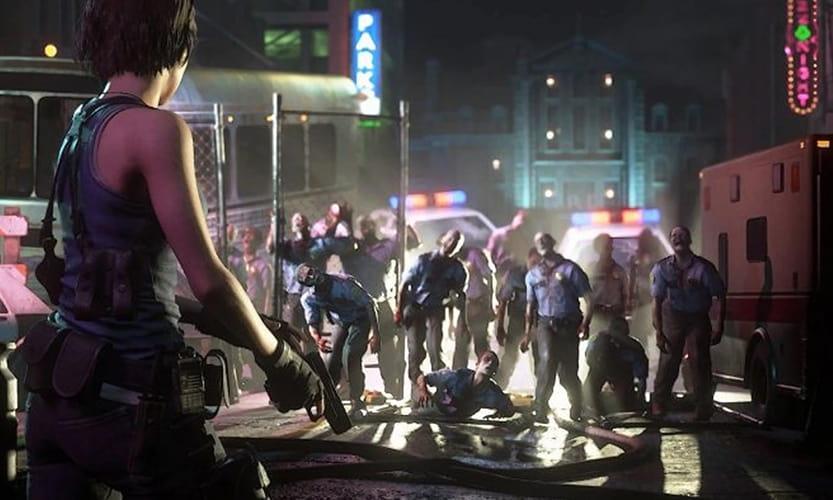 Resident Evil 3 Remake city