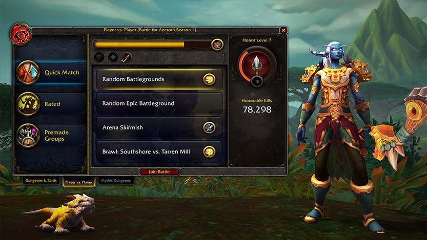 World Of Warcraft option